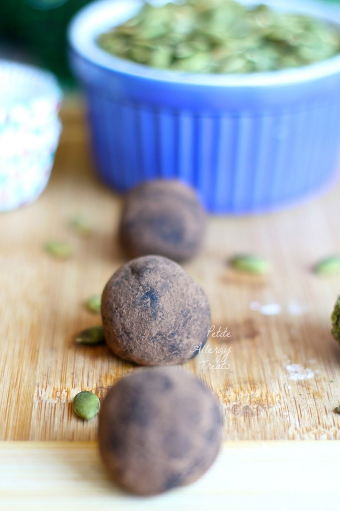 Chocolate Avocado Truffles|Just 3 ingredients make these truffles healthy using avocado.  no bake, gluten free, vegan