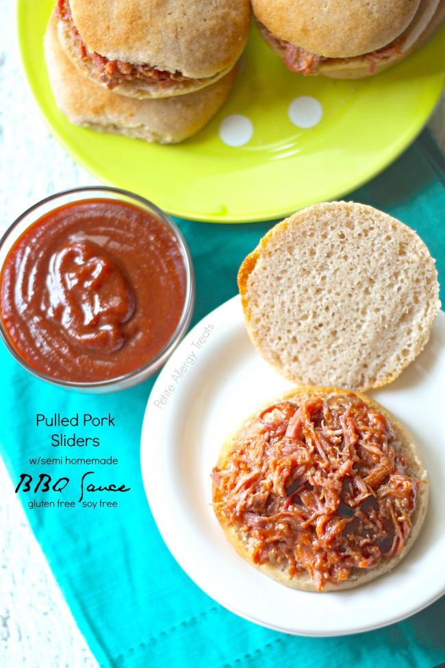 Homemade BBQ Sauce (gluten free soy free)| Easy pulled pork slider smothered in BBQ  sauce!