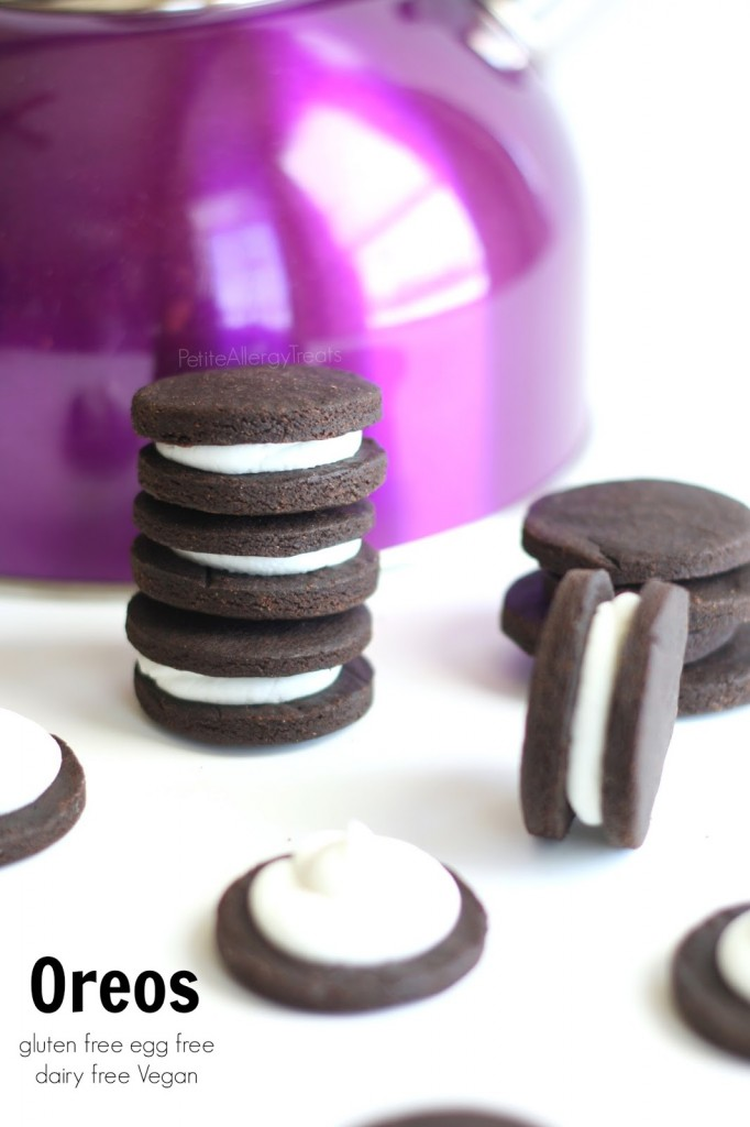 Oreos (gluten free Vegan dairy free) Enjoy a classic chocolate sandwich cookie without gluten!