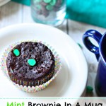 Mint Brownie In A Mug (Vegan Gluten Free)