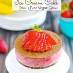 Strawberry Ice Cream Cake (Dairy Free Raw Vegan)