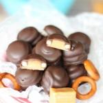Pretzel Rolos (gluten free nut free caramel candy)