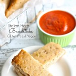 Easy Gluten Free Italian Herb Breadsticks (vegan)