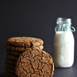 Gluten Free Vegan Gingersnap Molasses Cookies
