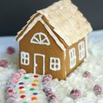 Gluten Free Vegan Gingerbread House + Egg Free-Royal Icing
