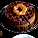 Teff Waffles with Blueberry Orange Glaze (gluten free Vegan)