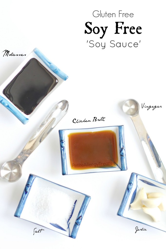 Easy Soy-Free Soy Sauce (Gluten Free) Make your soy-free sauce with less sodium but all the flavor.  Perfect for those with soy and wheat allergies