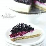 Blueberry Cheesecake (No Bake Eggless Gluten Free)