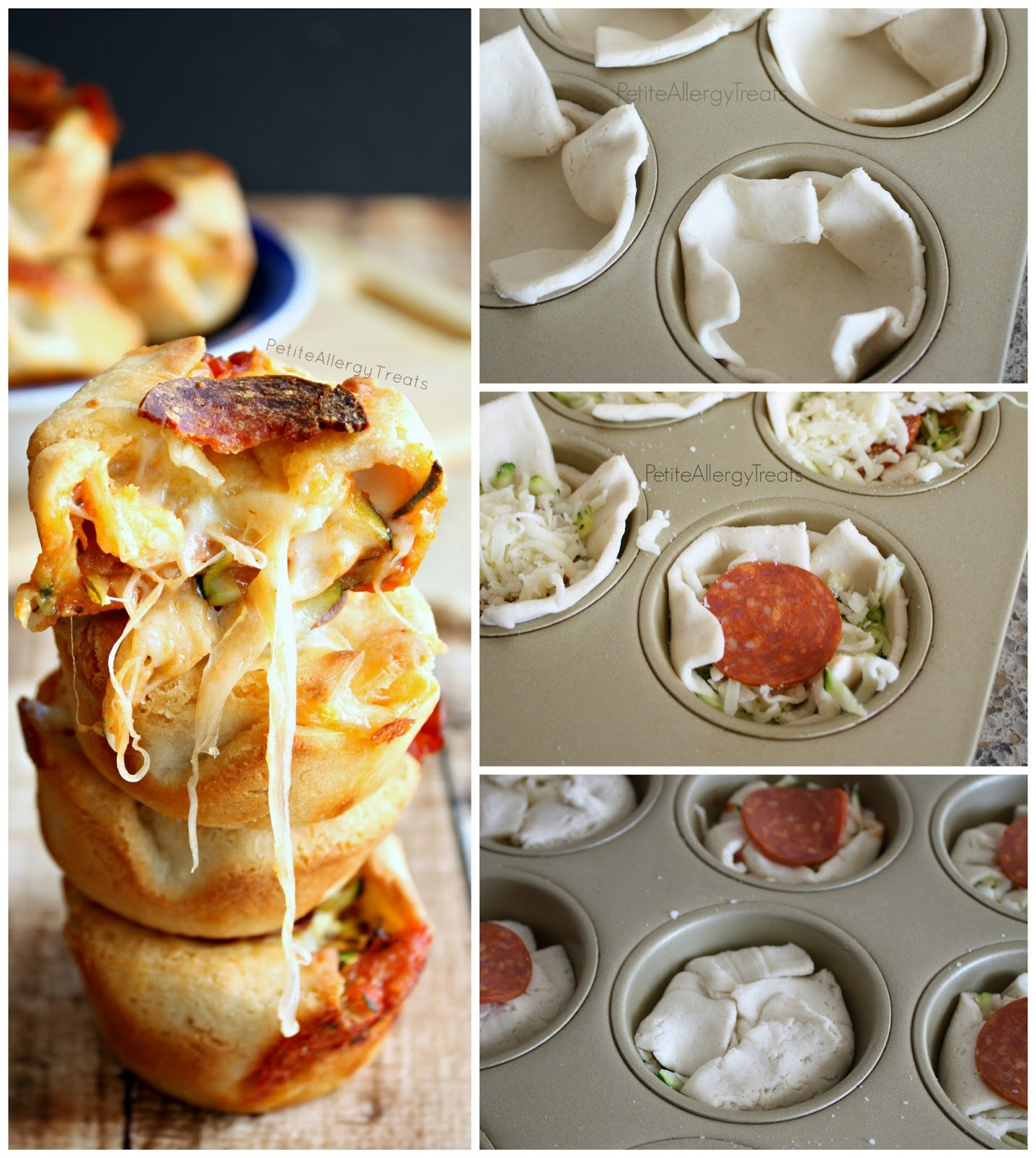 Pizza Pocket Bites (gluten free egg free)- Pizza pockets filled with gooey cheese and vegetables