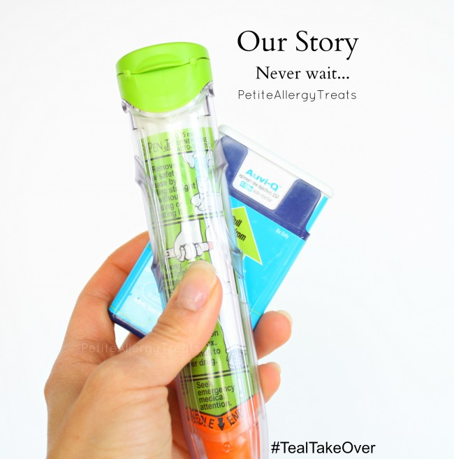 Epi-Story from Petite Allergy Treats- Never wait to administer an epi-pen in an allergic reaction