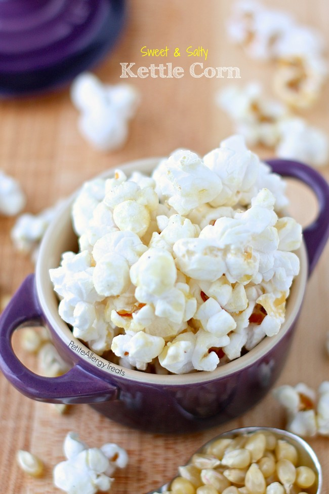 Homemade Kettle Corn- Sweet and salty make this gluten free vegan snack irresistible.