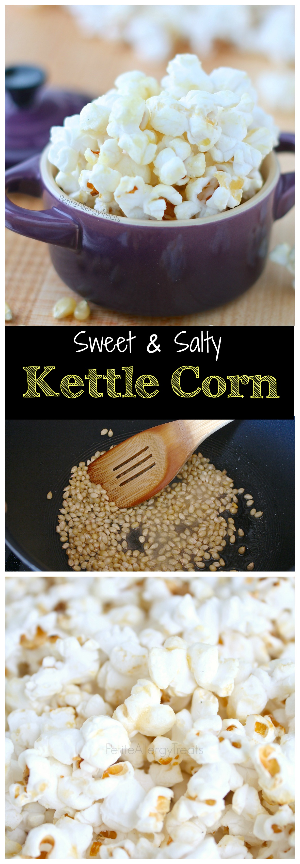Easy Homemade Kettle Corn- Sweet and salty make this gluten free vegan snack irresistible.