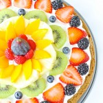 Rainbow Fruit Pizza (Gluten free Vegan)