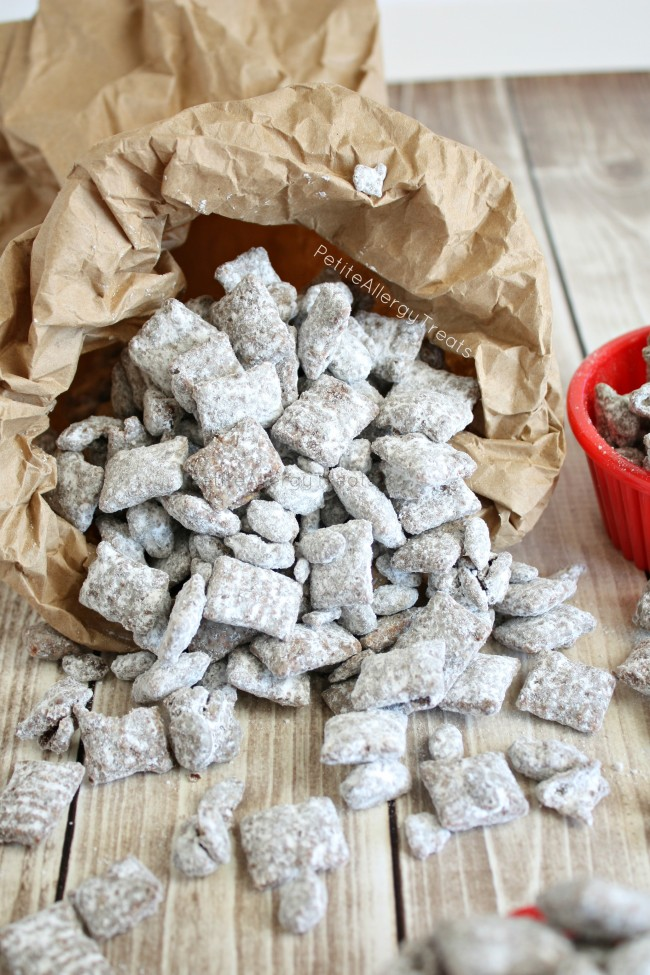 Nut Free Muddy Buddies Monster Munch (gluten free dairy free)- Classic treat for school made peanut free and allergy friendly