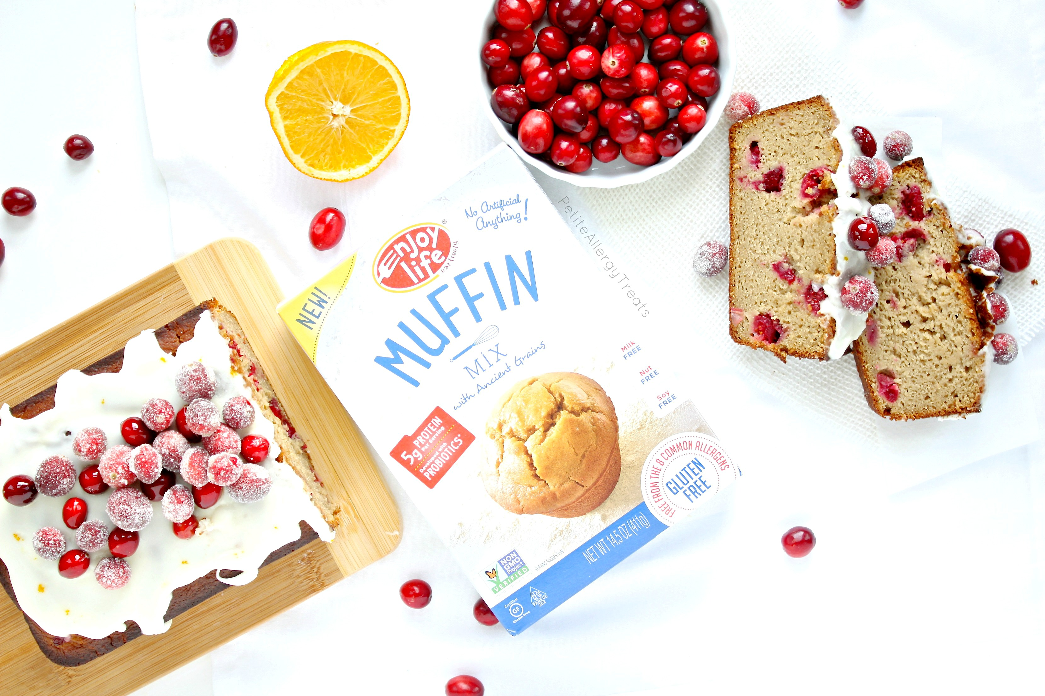 Gluten Free Orange Cranberry Bread Recipe (dairy free Vegan egg free) Beautiful easy sparkling cranberries adore this super moist pound cake! #tothefullest