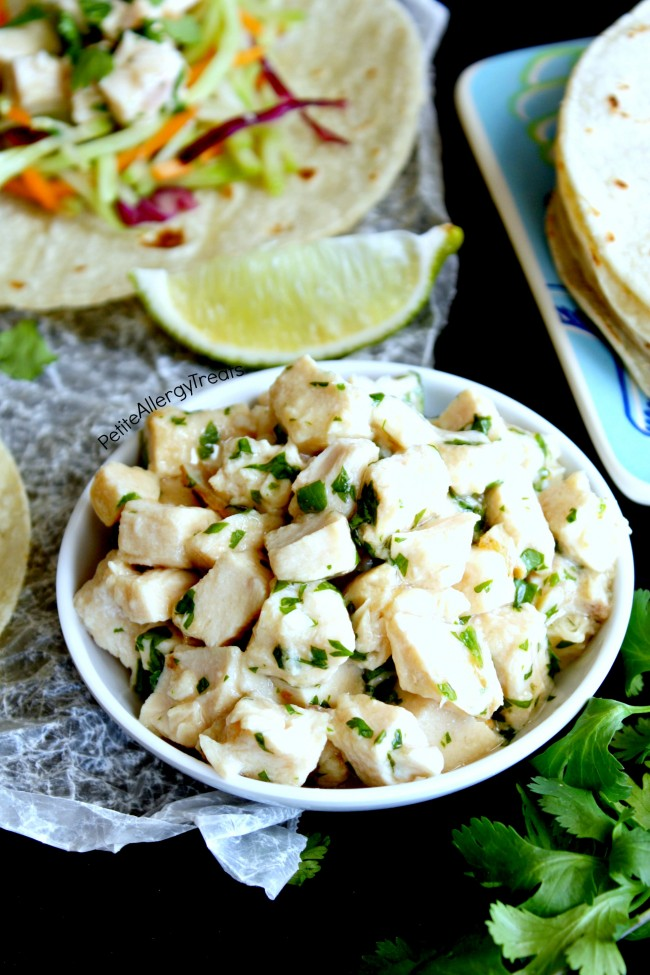 Chicken Taco Cilantro Lime Recipe (gluten free)- Super easy dinner made with rotisserie chicken and ready in under 30 minutes!