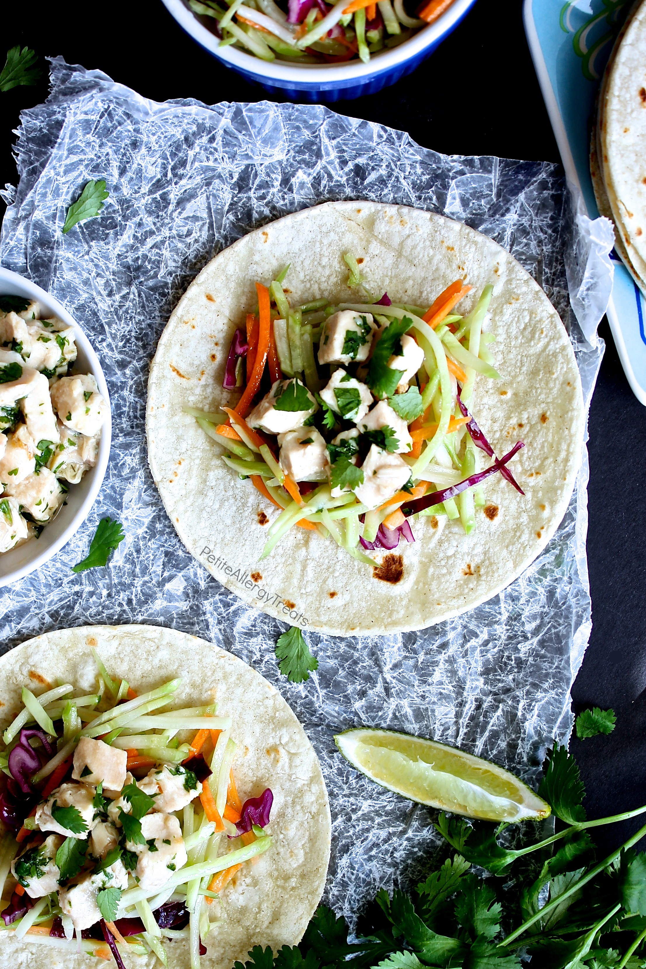 Cilantro Lime Chicken Tacos recipe (gluten free)- Super easy dinner made with rotisserie chicken and ready in under 30 minutes!