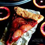 Gluten Free Blood Orange Plum Galette