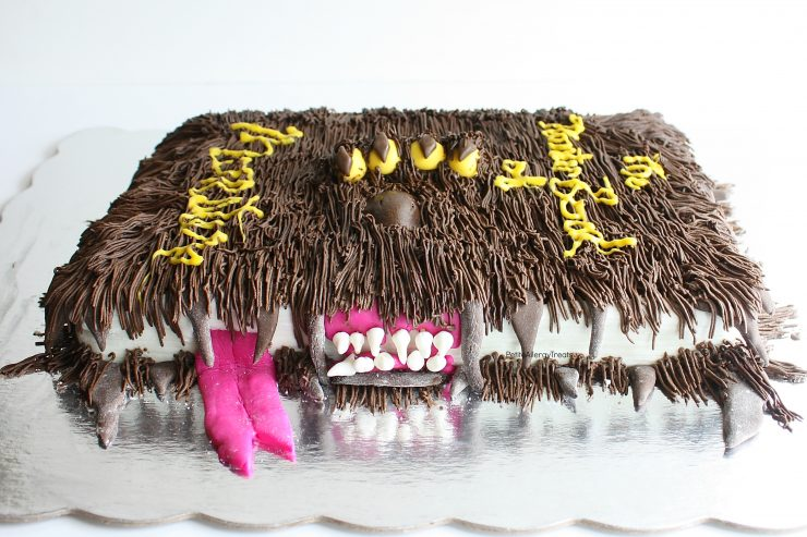 Gluten Free Birthday Cake- Harry Potter Monster Book of Monsters Cake recipe (dairy free egg free nut free)- A must make for any boys birthday or Harry Potter fan. Entire cake is food allergy friendly!