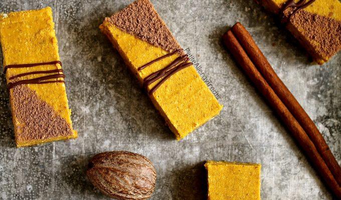 Healthy Gluten Free Vegan Pumpkin Pie Bars (Dairy Free)