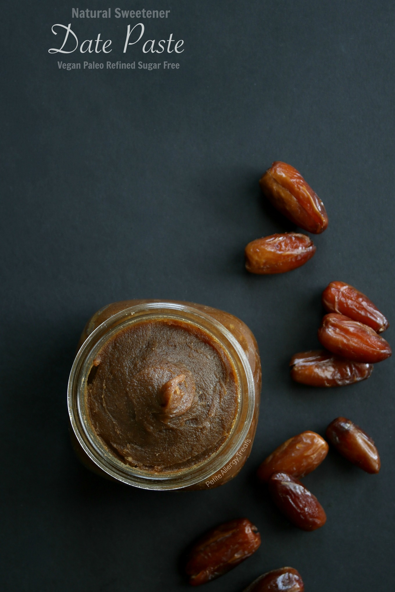 Paleo Date Paste Sweetener- Refined sugar free sweetener- gluten free vegan very Food Allergy Friendly!