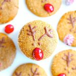 Gluten Free Reindeer Soft Gingersnap Cookies (Vegan)