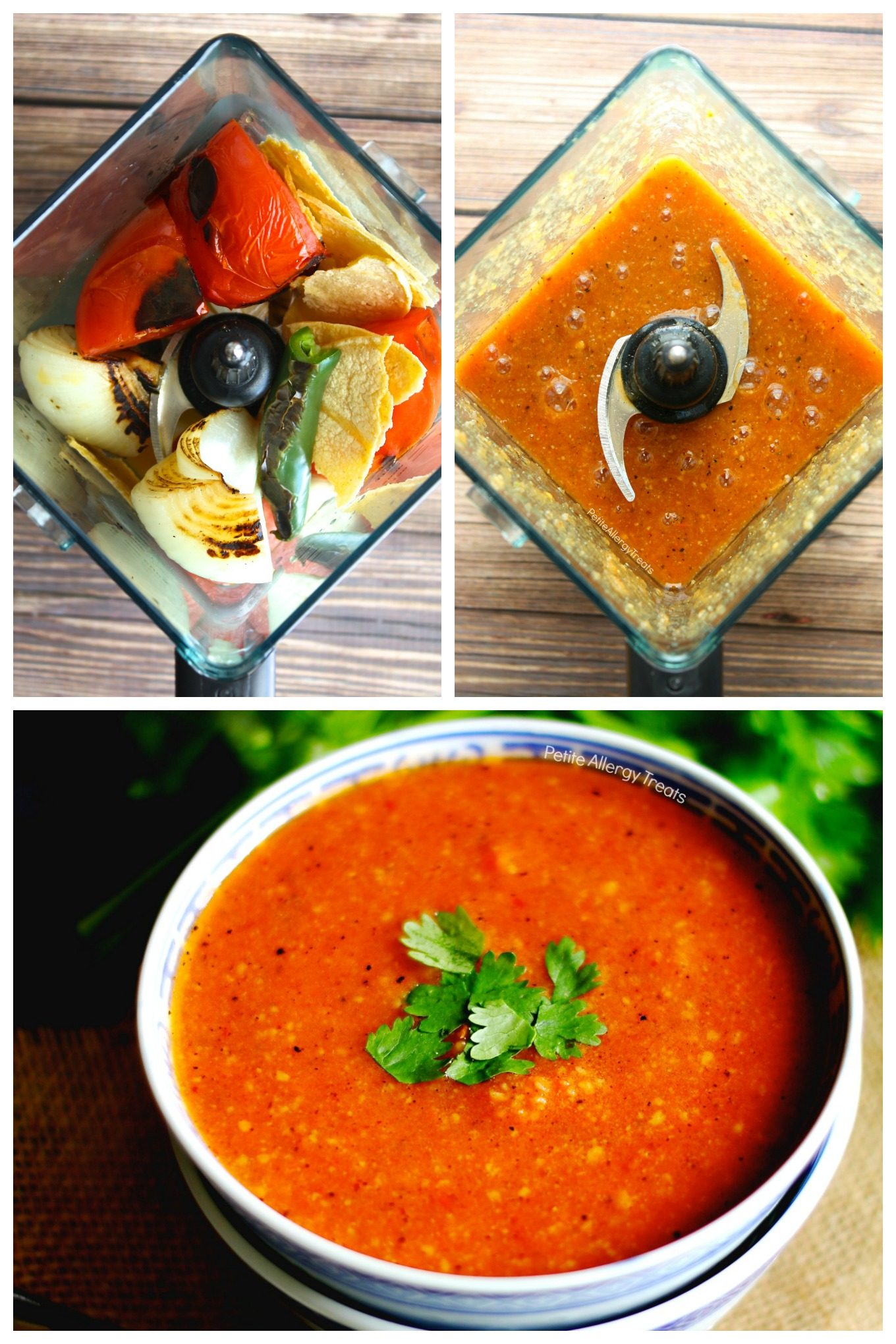 Vegetarian Tortilla Soup recipe (vegan)- Gluten Free flavorful soup with 8 ingredients. Food Allergy friendly dinner is ready!