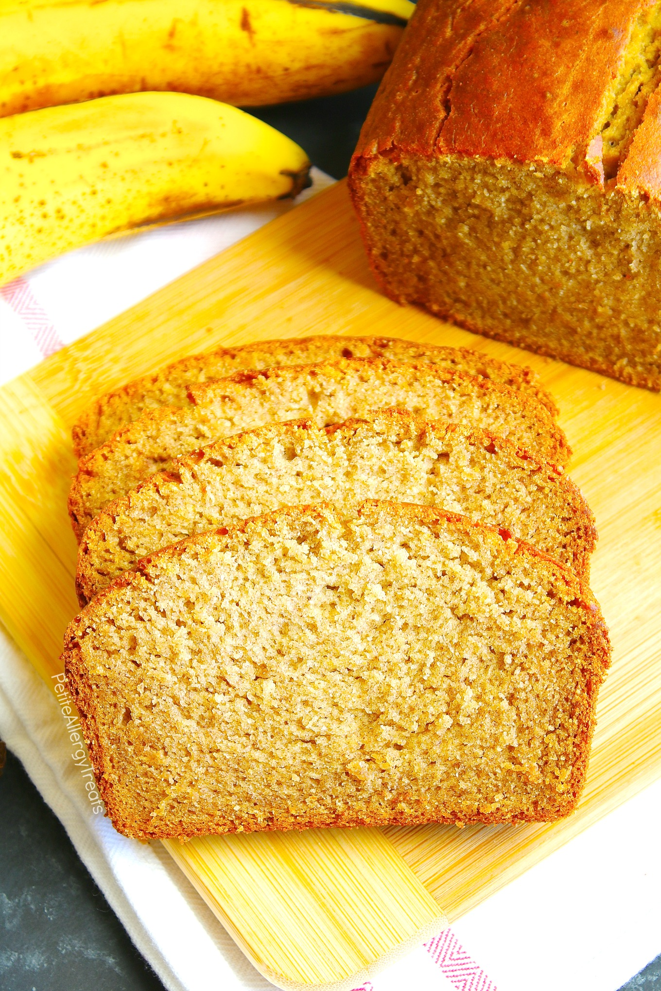 Easy Banana Bread Recipe (vegan gluten free egg free dairy free) A gluten free beginner's easy recipe! No mixer required and is egg free, dairy free and Food Allergy Friendly!
