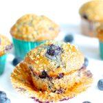 Gluten Free Vegan Flaxseed Blueberry Muffins